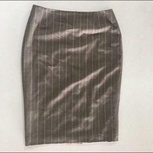 1 Escada Wool Pinstripe Pencil Skirt.