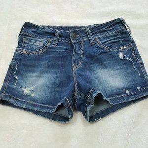 Silver Jeans Pants - [Silver Jeans] Suki Midi Jean Shorts