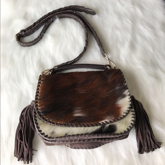 57 Off Zara Handbags Zara Cowhide Double Flap Over