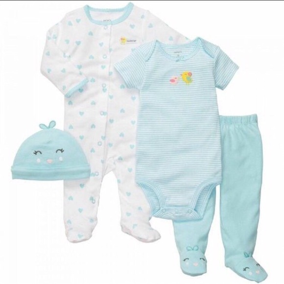 Carter S Matching Sets Carters Baby Girl 4 Piece Layette