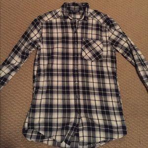 Top shop tunic plaid shirt