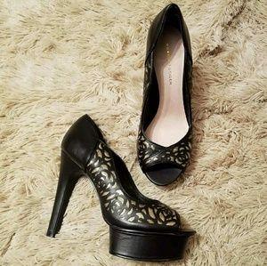 Kurt Geiger  Shoes - Black With Gold sparkley roses Kurt Geiger
