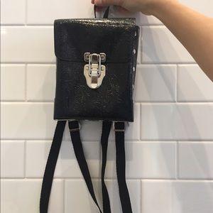 Vintage Handbags - Vintage Black Festival Mini Backpack