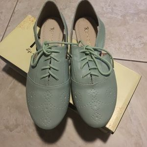 Restricted Shoes - Restricted mint green flats