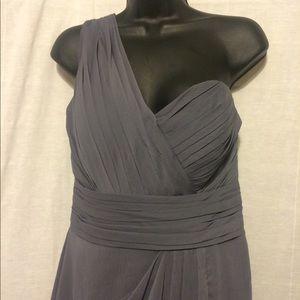 Bill Levkoff Dresses & Skirts - Bill Levkoff sz 12 gray one shoulder chiffon dress