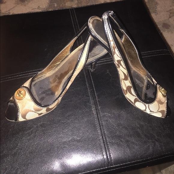 "Coach - Coach ""Brook"" size 8.5 slingback heels from Joann ..."