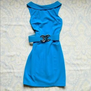 Cache Dresses & Skirts - Cache turquoise formal logo belted dress
