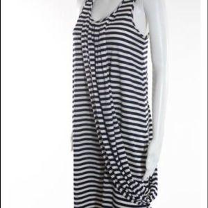Jean Paul Gaultier Dresses & Skirts - Jean Paul Gaultier striped drape swag dress New Sm