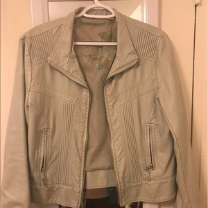 Big Chill Jackets & Blazers - Cream faux leather jacket