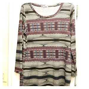 Maurices Tops - Maurices size 2 Aztec tee