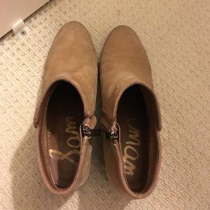 23269a25e5445d Sam Edelman Shoes - Sam Edelman Petty Bootie - Honey Nubuck Leather