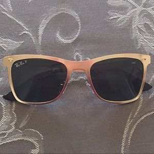 Ray-Ban Other - Rayban Gold Sunglasses