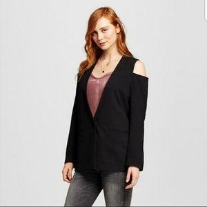 Who what wear Jackets & Blazers - BNWT BLACK COLD SHOULDER BLAZER