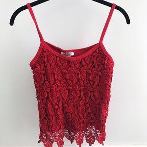 Vintage Tops - Vintage Red Crop Top