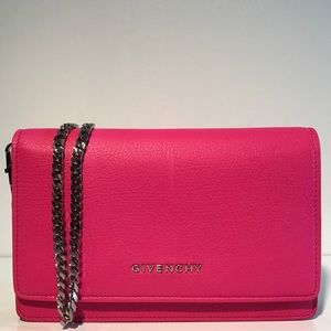 Givenchy Handbags - Givenchy Clutch Wallet On Chain Hot Pink