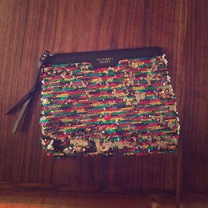 Victoria's Secret Handbags - Victoria's Secret Reversible Sequin Clutch