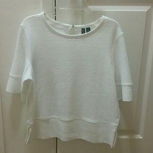 Valette Tops - White Blouse XS