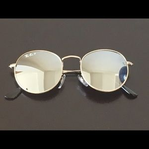 Ray-Ban Other - Round Ray Ban Mirror Sunglasses
