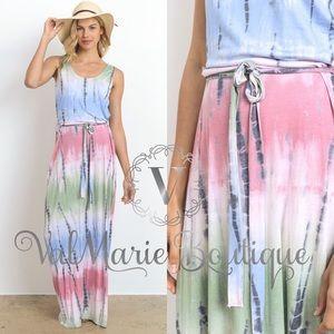 ValMarie Boutique Dresses & Skirts - PASTEL TIE DYE MAXI DRESS
