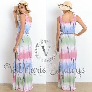 Valmarie Boutique Dresses Pastel Tie Dye Maxi Dress Poshmark