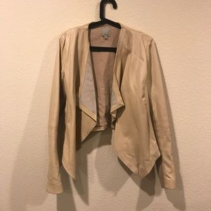 Halogen Jackets & Coats - Halogen waterfall open leather jacket