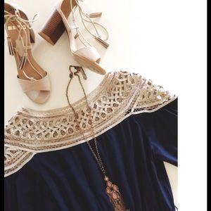 Navy Modcloth Dress