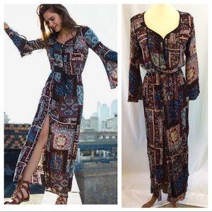 AEO Tie Sleeve Maxi Dress - NWT