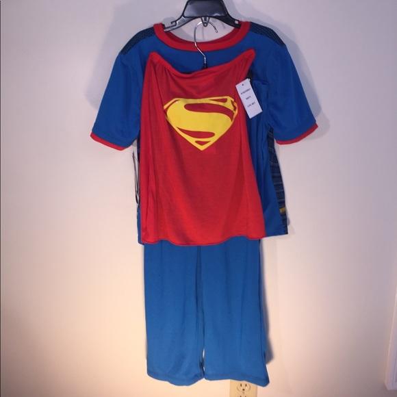 Superman Pajamas New Size 6 With Cape Poshmark
