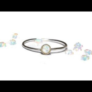 nejd Jewelry - ❗️sale❗️925 Sterling Silver White Fire Opal Ring