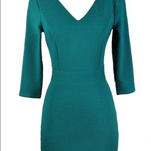Super Cute Teal Bodycon Dress