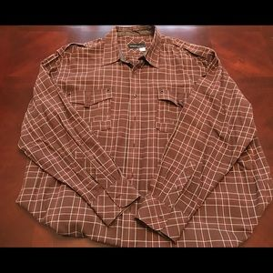 Rocawear brown long sleeve button down
