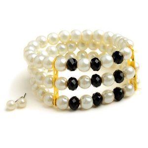 Jewelry - Multi Pearl Layer Bracelet Plus Earrings(3 colors)