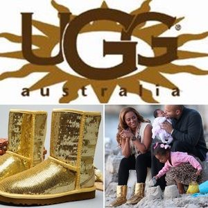 UGG Shoes - 🔆 CLASSIC SHORT UGGS GOLD SEQUIN 🔆 RARE 🔆