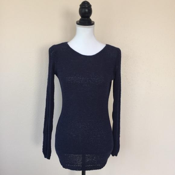 82% off Rachel Zoe Sweaters - Rachel Zoe Karla Knit Navy Blue ...