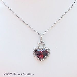 Jewelry - NWOT 925 Sterling Silver Necklace & Ruby Pendant