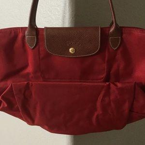 Longchamp Handbags - Longchamp Le Pliage Large Tote in Red.