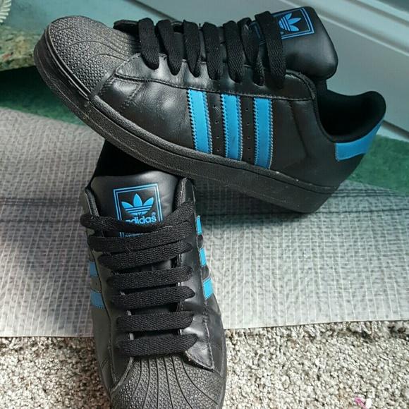 le adidas blu e nero shell capi mens 6 donne 7 poshmark