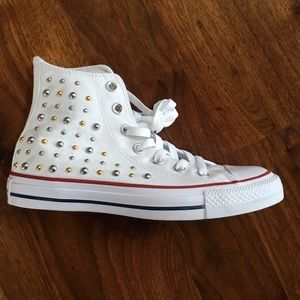 Converse Shoes - NWOB Converse Chuck High Tops Studded White Size 6