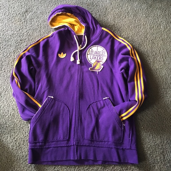big sale 28efb 83060 Vintage LA Lakers men's hooded sweatshirt XL