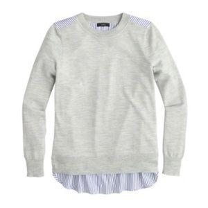 *NEW* J.Crew Grey Striped Back Sweater
