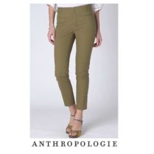 Anthropologie Cartonnier Green Tilda Crop Pants