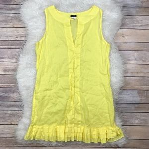 J. Crew Dresses & Skirts - J. Crew Yellow Solid Ruffle Shift Dress