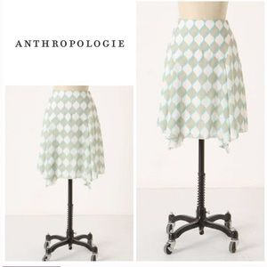 Anthropologie Girl From Savoy Silk Gyroscope Skirt