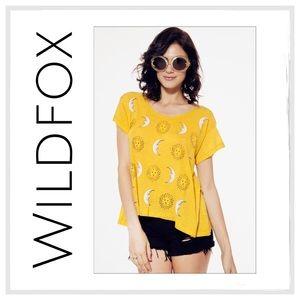 Wildfox Tops - Wildfox Moon And Sun Lazy Weekend Tee