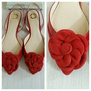 Monet Shoes - Sling back slides, with rose, 7.5