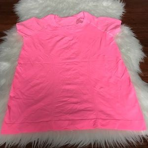 Zella Tops - Zella Neon Pink Short Sleeve Fitted Workout Top