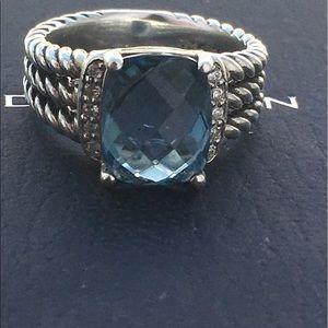 David Yurman Jewelry - David Yurman Hampton Blue Topaz Ring
