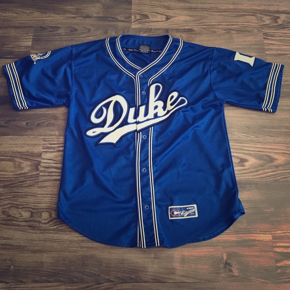 new styles e5041 22a52 Duke Blue Devils Baseball Jersey - LARGE