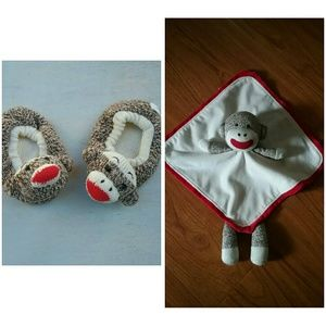 Other - slippers & binky bundle