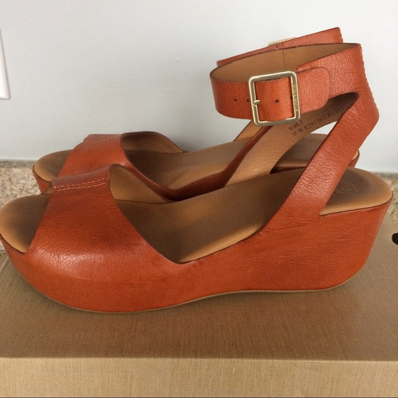 90f2e87fdc Kork-Ease Shoes | Korkease Carolyne Platform Wedge Sandals In Rust ...